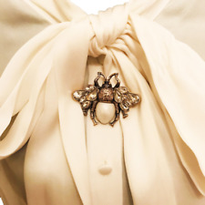 Bee Brooch with Sparkly Crystals Designer Inspired Runway Fashion
