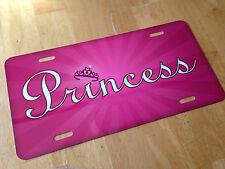 Princess License Plate Crown Purple/Pink ~PERFECT GIFT~ Aluminum Auto Tag 6x12
