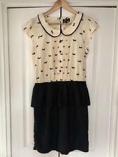 Yumi, Peplum Mini Dress With Peter Pan Collar, Size L/42, NEW