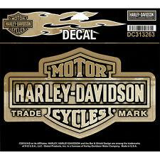 """HARLEY-DAVIDSON Adesivo, Decal """"bar + shield NOSTALGIC"""" Gold, media * DC 313263 *"""