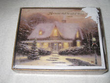 2003 18 Count Thomas Kinkade Painter Of Light Holiday Cards With Scripture New
