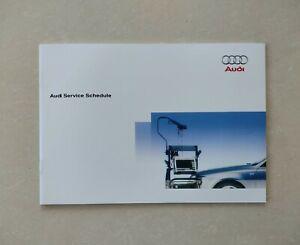 💯GENUINE AUDI SERVICE BOOK ALL MODELS A1 A2 A3 A4 A5 A6 A8 S3 S4 S6 TT Q3 Q5 Q7