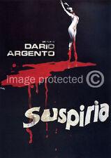 Suspiria Dario Argento Vintage Horror Movie Poster