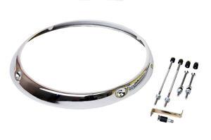 H1 Headlight Chrome Rim, Porsche 911/930, 911.631.102.04