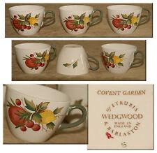 WEDGWOOD of ETRURIA & BARLASTON - Set of 3 Tea CUPS - COVENT GARDEN Design *NICE