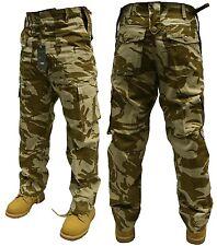 """Da Uomo Esercito Combattimento Pantaloni DESERT CAMO 50"""" SPEDIZIONE GRATUITA"""