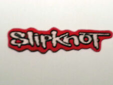 ROCK PUNK METAL MUSIC SEW / IRON ON PATCH:- SLIPKNOT (a) RED SIGNATURE STRIPE