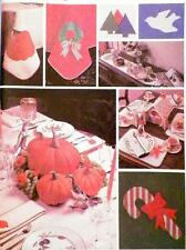 Halloween Christmas Sewing Pattern Tablecloths Gingerbread House Pumpkins Napkin
