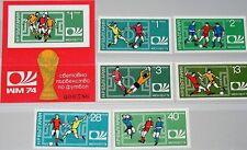 Bulgaria 1974 2326-31 Block 47 A-B Soccer World Cup MNH