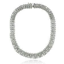 1 Ct TDW Diamond S Pattern Tennis Necklace in Brass