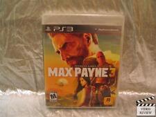 Max Payne 3 (Sony PlayStation 3, 2012) Brand New