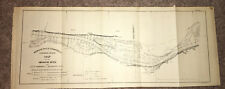 1893 Map of MO River Little Taverncreek to Van Booven's Chute Heckman Island