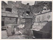 D2087 Ostia antica - Interno di una bottega - Stampa - 1923 vintage print