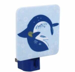 Azul Tiburón Luz Nocturna Bebé Shark Nuevo Auténtico Barco Rápido Nite Luz
