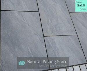 CLEARANCE Anthracite Black Porcelain Paving 600×900 Patio tiles slabs V