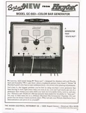 1966 Hickock Model GC-660 Color Bar Generator Television Service Vtg Print Ad #1