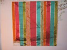 "Highland Court ""Mandalay Stripe"" 100% Silk, fabric remnant, color fuchia"