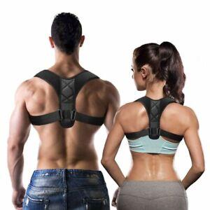 Posture Corrector Spinal Therapy Back Shoulder Brace Support Sports Men Women UK