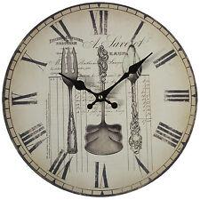 Reloj De Pared cubiertos de cocina Vintage Shabby Chic-Nuevo Y En Caja
