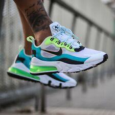 Nike Air Max 270 reaccionar se Aqua Negro Verde Uk Size 11 US 12 EU 46 Special Ed