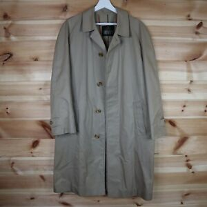 Grenfell Vintage Trench Coat Check Lined Beige 40 Medium