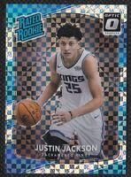 Justin Jackson 2017-18 Donruss Optic Checkerboard Rated Rookie Parallel #158 SSP