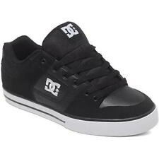 DC Pure Mens Black Black White Leather Skate Shoes Trainers Size 8-15