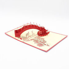 3D Bridge Shaped Cards Happy Birthday Anniversary Messages Greeting Card SW