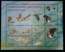 Slovakia 2015 Polana Frog Bird Otter animals Fish Crane Fauna Miniature sheet