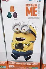 Kelloggs Despicable Me Minions Fruit Snacks 80 count 64 ounces Jumbo Pack