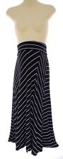 Size Large A PEA IN THE POD BLACK & WHITE STRIPED MATERNITY SKIRT Maxi Summer