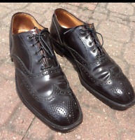 Brooks Brothers Shell Cordovan Wingtip Oxford Dress Shoes Dark Brown Red Sz 10 C