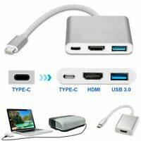 3 in1 Type C to USB-C 4K HDMI USB 3.0 Hub Adapter Cable For Macbook Samsung~UK