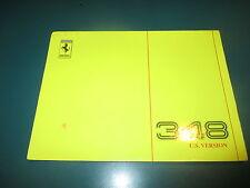 Ferrari 1990 348 US Technical Manual / Manuale Tecnico Owners Print  # 613/90M