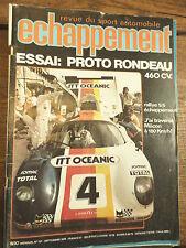 revue du sport automobile échappement n°131 de  septembre 1979