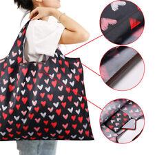 Large Reusable Shopping Bags Foldaway Bag Storage Eco-Friendly Portable Handbag