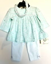 Little Me 3 Piece Outfit. Top Pants Headband. Mint Color 3 Month NWT Price $16