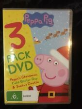 PEPPA PIG -3 PACK DVD -B/NEW -PEPPA'S CHRISTMAS, COLD WINTER DAY, SANTA'S GROTTO