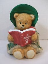 Enesco Chapeau Noelle Beth Christmas Bear with Song Book Ceramic Figurine