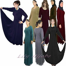 Ladies Umbrella Cut Jersey Abaya With Very Wide Flare