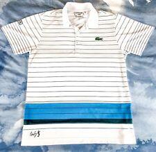 59e9d1393 Lacoste Sports Vintage Andy Roddick Stripe Tennis Men s Polo Shirt