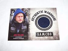 2014 Sons of Anarchy JAX TELLER #M01 Worn SAMCRO Wardrobe swatch CHARLIE HUNNAM