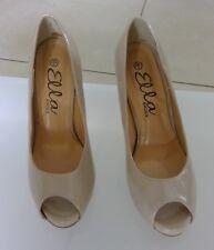 Womens High Heels Ella Shoes Peep Toe Nude sz 36