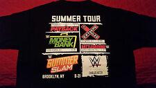 WWE 2016 SUMMER TOUR  NETWORK CREW MEDIUM Black T-shirt Authentic Merchandise