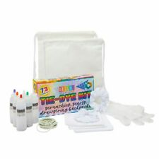 Tie Dye Kit for Kids, Dyes, Gloves, Rubber Bands, Hair Scrunchies, Scarves, Bags
