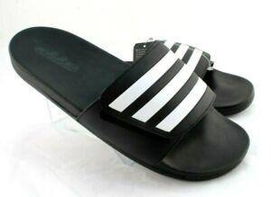 ADIDAS Adilette Comfort Men's Size 10 Black Adjustable UNISEX Slide Sandals