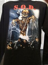 Rare SOD Stormtroopers Tour Shirt Sz L/XL Anthrax Rock MOD Metal Slayer Ozzy Dio