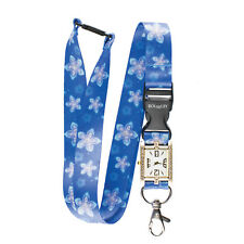 FROZEN FLOWERS PATTERN Lanyard integrated NURSE FOB WATCH Beautiful Neck Strap