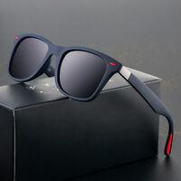 Men Stylish Polarizer Sunglasses Square Frame Driving Fishing Outdoor UV Glasses