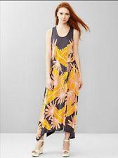 Gap Trapeze Maxi Dress, Huge Floral Print Sz L (1152A16)